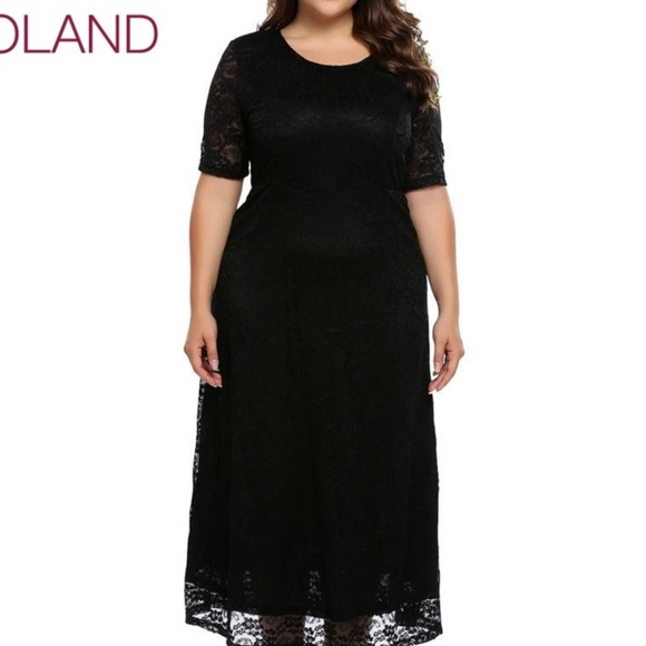 IN\'Voland Oversized Plus Size Lace Dress Maxi NWT